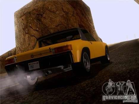 Porsche 914-6 для GTA San Andreas вид сзади