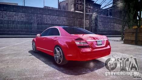 Mercedes Benz w221 s500 v1.0 cls amg wheels для GTA 4 вид сзади слева