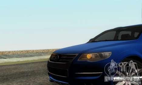 VolksWagen Touareg R50 JE Design Tuning для GTA San Andreas вид сзади