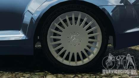 Mercedes-Benz W221 S500 2006 для GTA 4 вид снизу