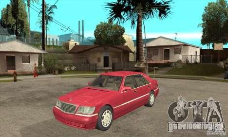 Mercedes-Benz S600 1999 для GTA San Andreas вид слева