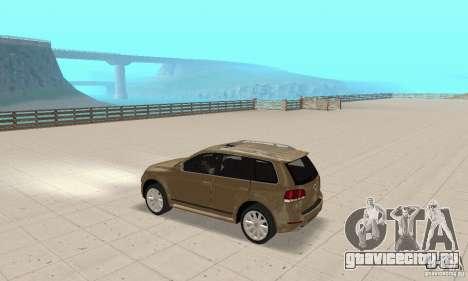Volkswagen Touareg 2008 для GTA San Andreas вид сзади