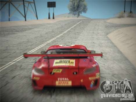 Mercedes-Benz SLS AMG GT3 Black Falcon 2011 для GTA San Andreas вид справа