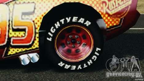 Lightning McQueen для GTA 4 вид сзади