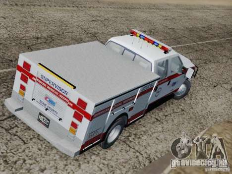 Ford F-350 AMR Supervisor для GTA San Andreas вид изнутри