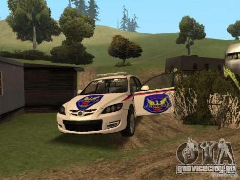 Mazda 3 Police для GTA San Andreas вид сбоку