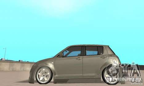 Suzuki Swift Tuning для GTA San Andreas вид сзади слева