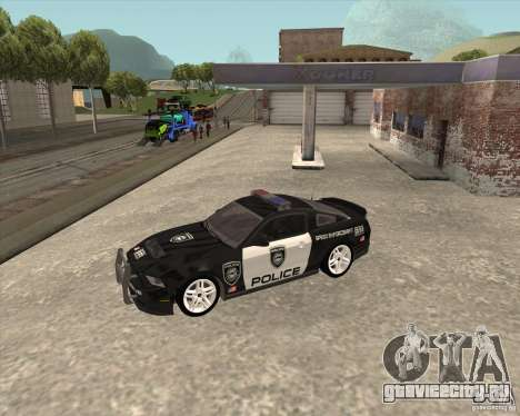 Ford Shelby GT500 2010 Police для GTA San Andreas вид сзади