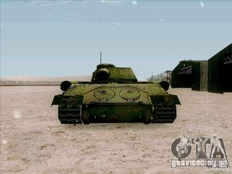 Т-34 для GTA San Andreas вид сзади слева