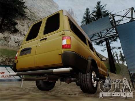 УАЗ 2760 для GTA San Andreas вид снизу