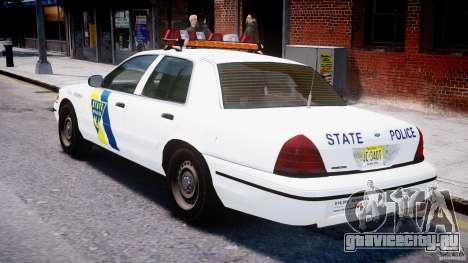 Ford Crown Victoria New Jersey State Police для GTA 4 вид справа