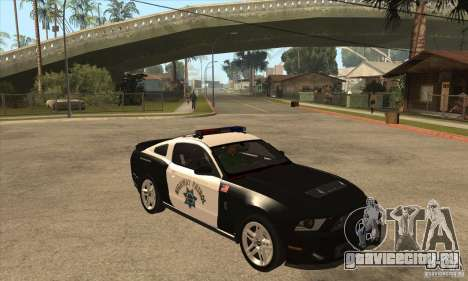 Shelby GT500 2010 Police для GTA San Andreas вид изнутри