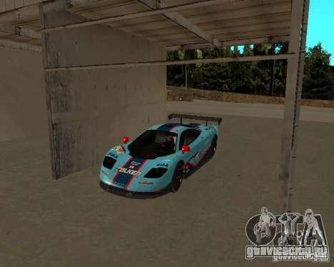 McLaren F1 для GTA San Andreas вид изнутри
