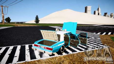 Dodge Diplomat 1983 Police v1.0 для GTA 4 вид сверху
