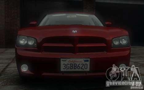 Dodge Charger RT Hemi 2008 для GTA 4 вид сверху