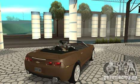 Chevrolet Camaro Concept 2007 для GTA San Andreas вид сзади слева