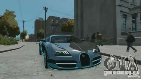 Bugatti Veyron 16.4 Super Sport для GTA 4 вид справа