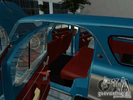 Москвич 423 для GTA San Andreas вид изнутри