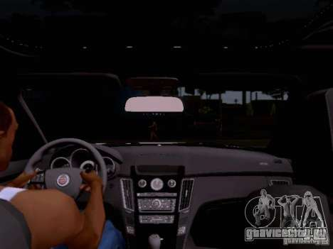 Cadillac CTS-V 2009 для GTA San Andreas вид сверху