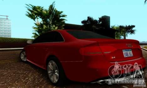 Audi S4 2010 для GTA San Andreas вид справа