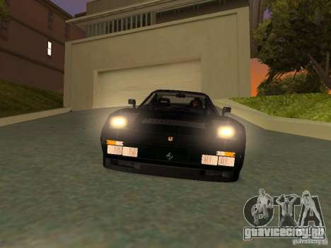 Ferrari 288 GTO для GTA San Andreas салон