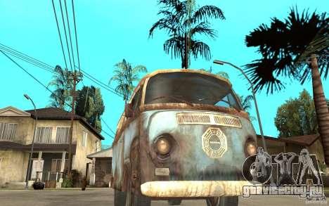 Dharma-Van (VW Typ 2 T2a) для GTA San Andreas вид сзади