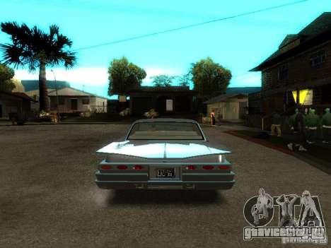 Voodoo из GTA IV для GTA San Andreas вид сзади