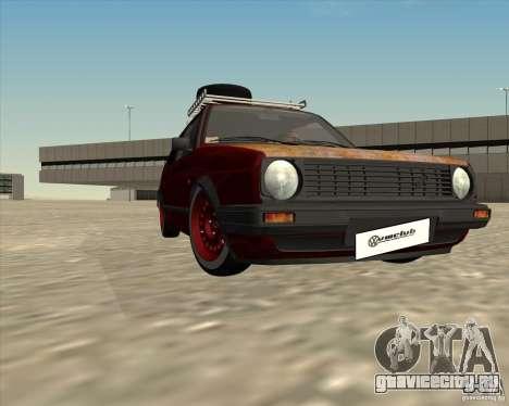 VW Golf II Shadow Crew для GTA San Andreas вид сверху
