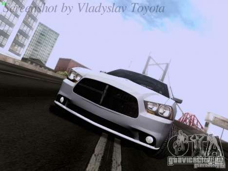 Dodge Charger 2013 для GTA San Andreas вид слева