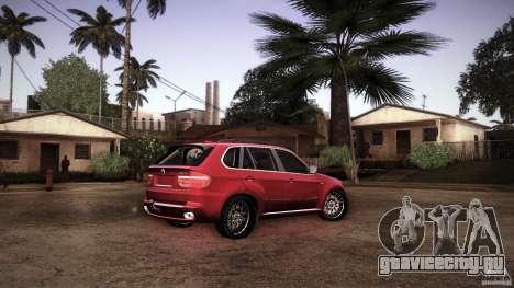 BMW X5 with Wagon BEAM Tuning для GTA San Andreas вид снизу