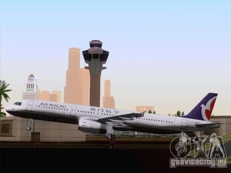 Airbus A321 Air Macau для GTA San Andreas вид сбоку