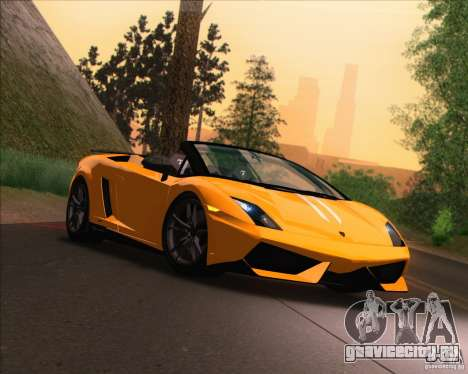 Lamborghini Gallardo LP570-4 Spyder Performante для GTA San Andreas вид сзади слева