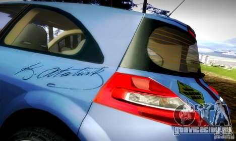 Renault Megane Coupe 2008 TR для GTA San Andreas вид сзади