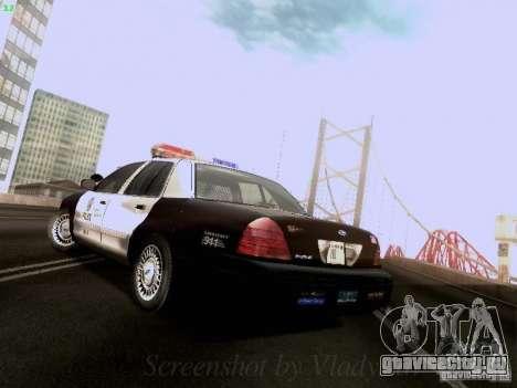 Ford Crown Victoria Los Angeles Police для GTA San Andreas вид сзади слева