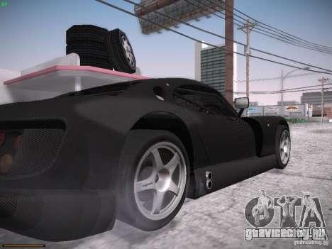 TVR Cerbera Speed 12 для GTA San Andreas вид изнутри