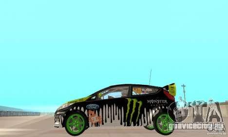 Ford Fiesta 2011 Ken Blocks для GTA San Andreas вид сзади слева