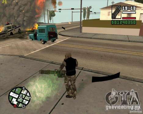 Миниган из Call of Duty Black Ops для GTA San Andreas второй скриншот