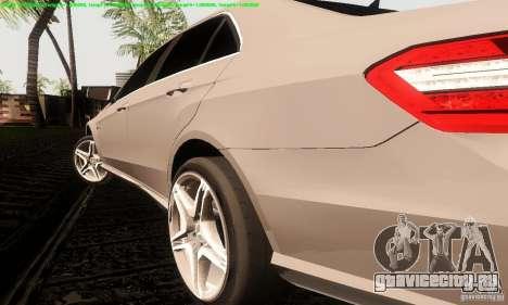 Mercedes-Benz E63 AMG 2010 для GTA San Andreas вид справа