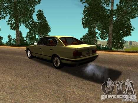BMW 535 для GTA San Andreas вид сзади слева