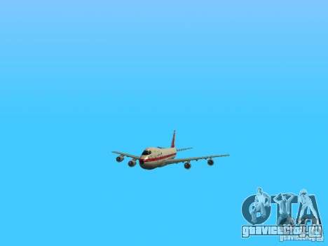 Boeing 747-100 для GTA San Andreas вид сбоку