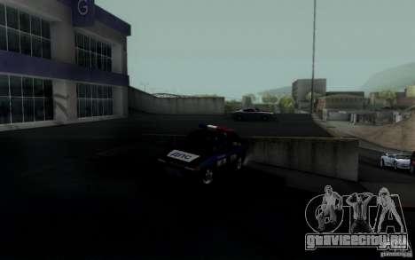ВАЗ 2114 ДПС для GTA San Andreas вид справа