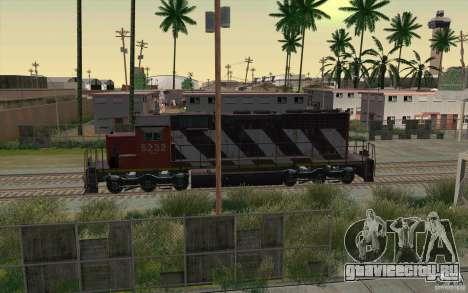 CN SD40 ZEBRA STRIPES для GTA San Andreas вид снизу