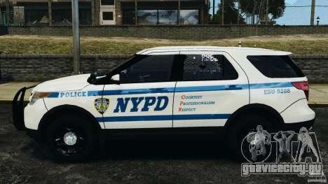 Ford Explorer NYPD ESU 2013 [ELS] для GTA 4 вид слева