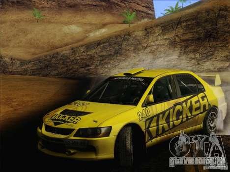 Mitsubishi Lancer Evolution IX Rally для GTA San Andreas колёса