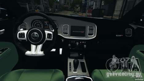 Dodge Charger SRT8 2012 v2.0 для GTA 4 вид сзади