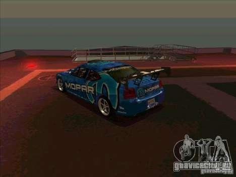 Mopar Dodge Charger для GTA San Andreas вид сзади слева