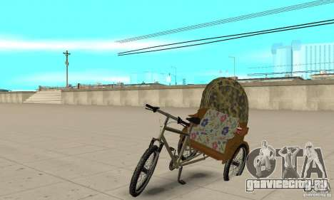 Manual Rickshaw v2 Skin2 для GTA San Andreas