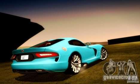 Dodge Viper SRT  GTS для GTA San Andreas колёса