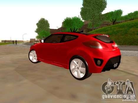 Hyundai Veloster Turbo v1.0 для GTA San Andreas вид сзади