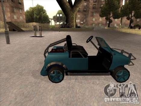 Small Cabrio для GTA San Andreas вид слева